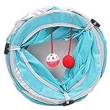 KatzenSpielzeug,Dairyshop 1 Pc Pet Katze Tunnel Tubes zusammenklappbare Crinkle Kitten Kaninchen spielen Funny Tunnel Spielzeug, Polyester & Stahl Draht (blau)