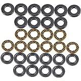 WEONE 5 mm x 10 mm x 4 mm de plata 3-Piezas modelo preciso F5-10M empuje axial rodamientos de bolas (Pack de 10)