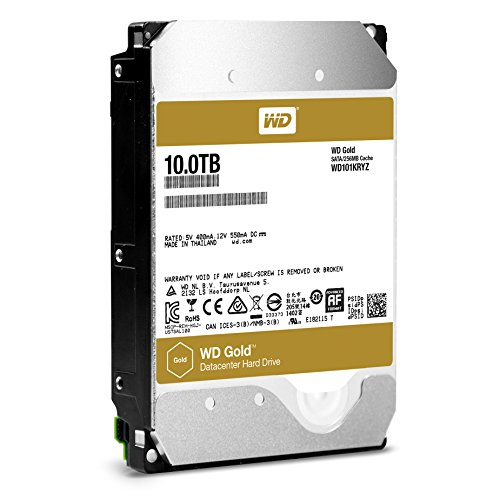 WD Gold 10TB HDD 7200rpm 6Gb/s serial ATA sATA 256MB cache 8,9cm 3,5Zoll intern RoHS compliant Enterprise Bulk
