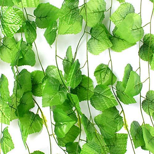 Künstliche Weinblätter, 230cm 8 * 8 30 kleine Blätter Wohnaccessoires & Deko Halloween,...