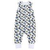 TupTam Unisex Babyschlafsack mit Beinen Unwattiert, Farbe: Tupfen Bunt, Größe: 104-110
