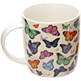 Butterfly Cascade Design Bone China Mug