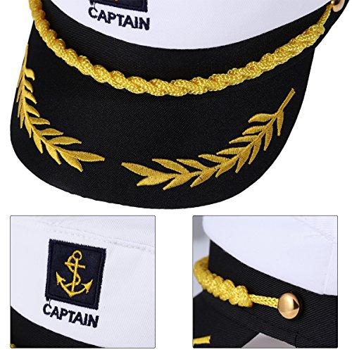 ... Imagen de bestoyard capitán adulto yate barco navegante capitán traje  sombrero cap marina marina almirante blanco cf3eae5f020