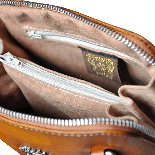 Pratesi Volterra borsa in vera pelle - B467 Bruce (Viola) Verde chiaro