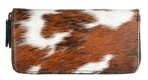 außergewöhnliche und trendige Kuhfellbörse/ Geldbörse aus echtem Leder und wunderschönem Kuhfell