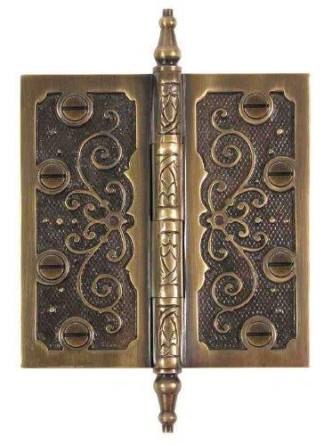 Messing Elegans lf001ab massivem Messing Lafayette 11,4Dekorative Tür Scharnier mit Messing Schrauben, Messing antik Finish - Lafayette Tür