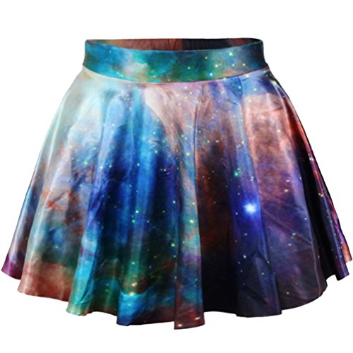 URqueen Women's Stylish Casual High Stretch Waist Pleated Mini Skirt Giallo
