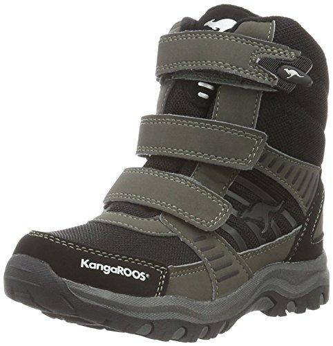 KangaROOS Unisex-Kinder Barry-High II Kurzschaft Stiefel, Grau (Fog/Blk/Silver 259), 35 EU
