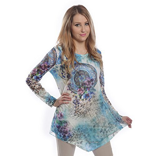 Innocent Lifestyle Carie a maniche lunghe Net Blu Ladies donna Emo Punk Blue S