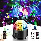 LED Discokugel, HY 9 Farbe Bluetooth Musik Party Discolampe Partyleuchte RGB Lichteffekte Bühnenbeleuchtung Party Licht Deko mit USB für Karaoke, Geburtstag und Halloween MEHRWEG