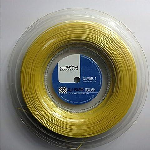 * Neu * Luxilon Alu Power Rough 1.25mm Corda da Tennis 200m, oro