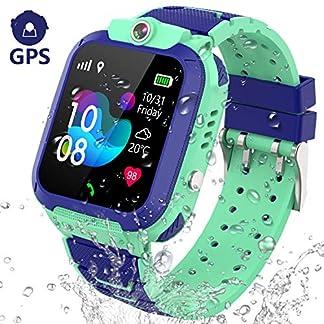 GPS Reloj Inteligente Niña Impermeable – Smartwatch Niños Localizador GPS Niños, Pulsera Inteligente Reloj Inteligente Niña Regalo, con Llamada Telefónica SOS Juegos Despertador GPS Tracker Podómetro