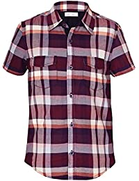 Naughty Ninos Boys Cotton Dark Brown Short Sleeve Shirt For 2 to 14 Years