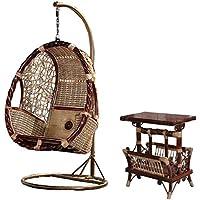 Naturale bambù - rattan vimini dondoli set/ trapezio / appendere sedia / longue / sedie sospese suite / amache/ posti / sedia / tavolino da salotto / tavolo da tè / tavolinetto a tre gambe / tavolino / fine tabella