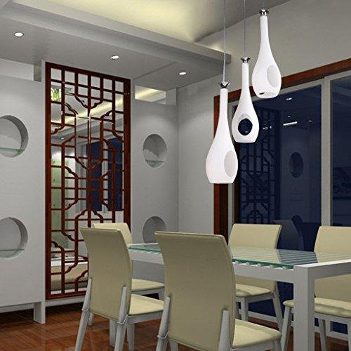 Weiße Vase Anhänger moderner Milch Schnitt geeignet für Restaurant, Korridor (Moderner Runder Schnitt)