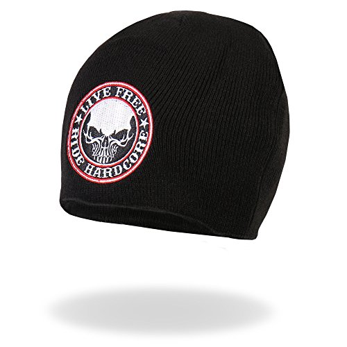 Patch • Stick • embroidered • Beanie • Mütze • Knit Hat • Live Free Ride Hardcore • DW0969 •