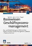 Basiswissen Geschäftsprozessmanagement: Aus- und Weiterbildung zum OMG Certified Expert in Business Process Management 2 (OCEB 2) -  Fundamental Level