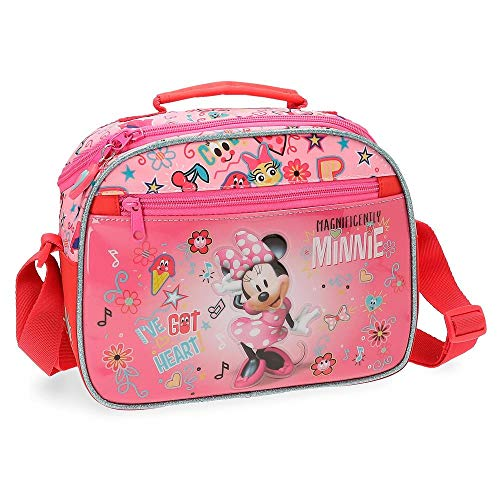 Neceser con tracolla adattabile al trolley Minnie Stickers Rosa
