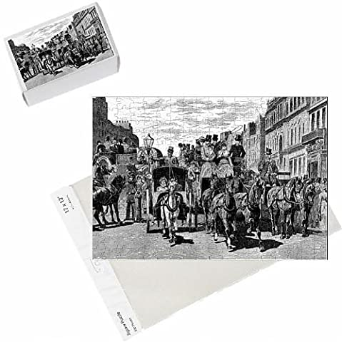 Photo Jigsaw Puzzle of Horse-Drawn Carriages in Piccadilly, London, 1883