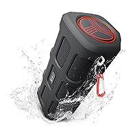TREBLAB FX100 Portable Bluetooth Speakers - Rugged For Outdoors Water Resistant Dustproof Shockproof. Built-In 7000mAh Power Bank, Microphone, Loud HD Audio w/Deep Bass, Wireless Speakerphone, 2018