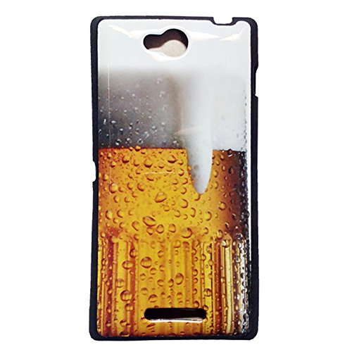 Design Silicon For Sony Xperia C Cases Back Cover  available at amazon for Rs.149