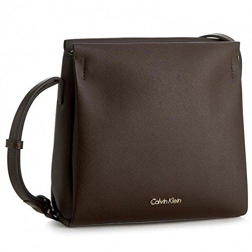 Calvin Klein M4Rissa Flat Crossbody Sac Messager à bandoulière, 75 cm, espresso