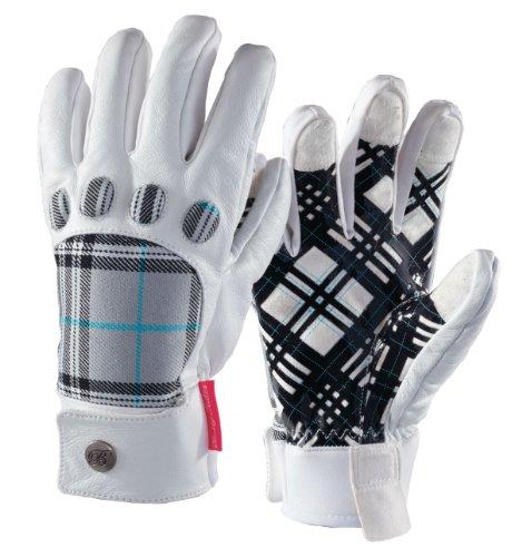 Betty Rides Damen Fly Snowboard/Ski Handschuh, damen Mädchen, Silver Plaid (Plaid Ski-handschuhe)