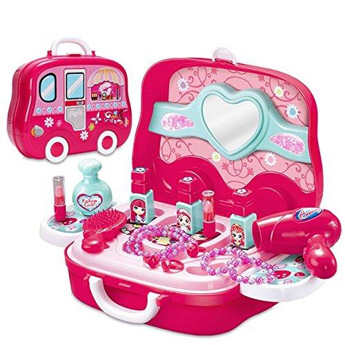 Stück prinzessin Make-up-Zubehör Schönheit Kosmetik-Set in einem Koffer Mädchen Kinder Rollenspiel Spielzeug (Model 2)