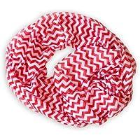 Scialle a tubo (cucita) per Primavera / Estate Snood Loop Sciarpa a zig zag in bianco /rosso - Estate Telo