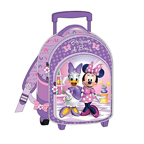 Diakakis-0561473-Trolley/cartella con rotelle, motivo: Minnie Mouse-27 x 31 x 10 cm