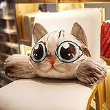WYQLZ Cuscino del sedile del cane del cuscino del sedile della vita del cane del fumetto Cuscino per ufficio rimovibile e lavabile della sedia dell'ufficio ( design : A )