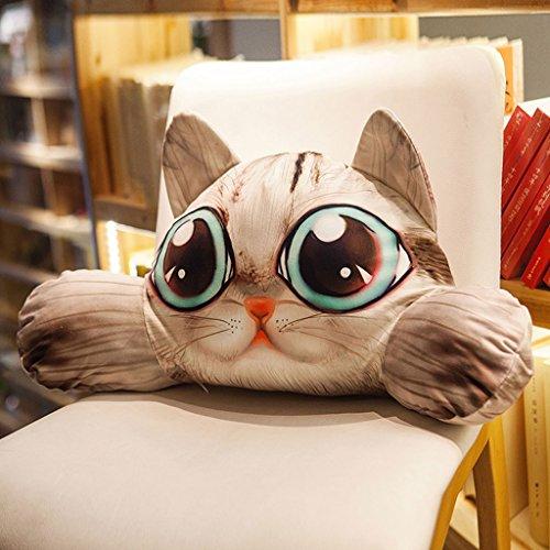 WYQLZ Dessin animé Chat Chien Taille Oreiller Taille Siège Coussin Chaise de Bureau Amovible Et Lavable Dos Pad ( conception : A )