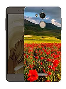 """Humor Gang red flower field Printed Designer Mobile Back Cover For """"coolpad Note 5"""" (3D, Matte Finish, Premium Quality, Protective Snap On Slim Hard Phone Case, Multi Color)"""