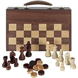 Aquamarine Games Ajedrez, Damas y Backgammon en maletin (Compudid FD100616), Multicolor
