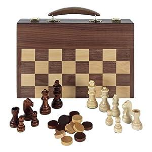 Aquamarine Games - Ajedrez, damas y backgammon en maletin (Compudid FD100616)