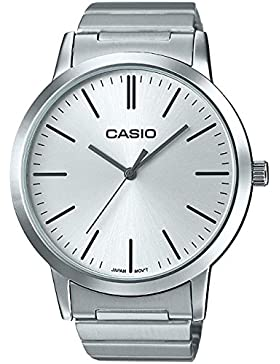 Casio Collection – Unisex-Armbanduhr mit Analog-Display und Edelstahlarmband – LTP-E118D-7AEF