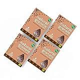 Granola Cacao, Coco y Quinoa - Natural Athlete - Desayuno con frutos secos y semillas - 100% Natural - BIO - Sin Gluten - Sin Lactosa - Vegano - Sin Azúcar Refinado añadido. Pack 4x325gr