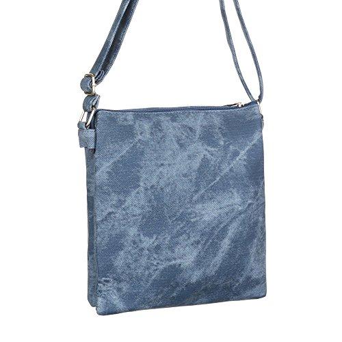 Ital-DesignSchultertasche Bei Ital-design - Borsa a spalla Donna blu/grigio