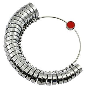 Breit Band Finger Ringmaß geliefert Ring Gauge britischen Größen A-Z + 6