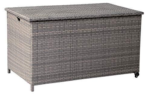 acamp Universalbox Havanna Kissenbox Gartentruhe grau meliert Polyesterinnentasche