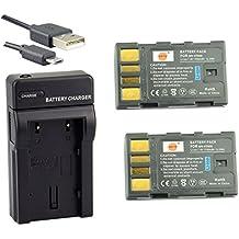 DSTE BN-VF808 Li-ion Batería (2 paquetes) Traje y cargador micro USB para JVC GZ-MG130, GZ-MG131, GZ-MG132, GZ-MG133, GZ-MG134, GZ-MG135, GZ-MG148, GZ-MG150, GZ-MG155, GZ-MG175