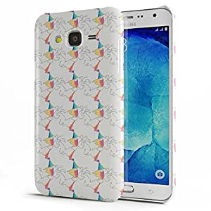Koveru Designer Printed Protective Snap-On Durable Plastic Back Shell Case Cover for Samsung Galaxy J7 - Brown Swatches