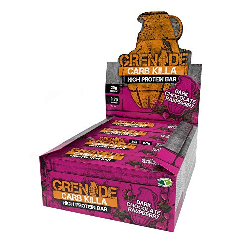Grenade Carb Killa High Protein and Low Carb Bar, 12 X 60 g, Dark Chocolate Raspberry