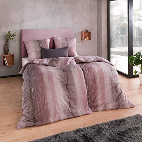 ESTELLA Mako Interlock Jersey Bettwäsche Amar aubergine 1 Bettbezug 135x200 cm + 1 Kissenbezug 80x80 cm
