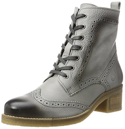 Be Natural Damen 25200 Combat Boots, Grau (Graphite), 38 EU