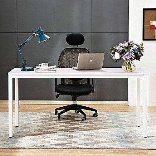 Need Schreibtische Tisch 140x60cm Computerschreibtisch Holz Konferenztische PC-Tisch Bürotisch für Arbeitszimmer Weiß