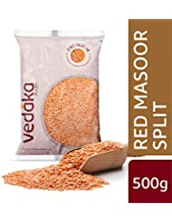 Amazon Brand - Vedaka Premium Red Masoor Dal Split, 500g