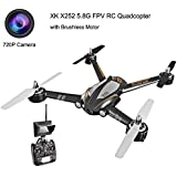 XK X252 5.8G FPV 7CH 6-Axis Gyro Drone RC Quadcopter RTF 1804 Brushless Motor, with 720P Camera -Black