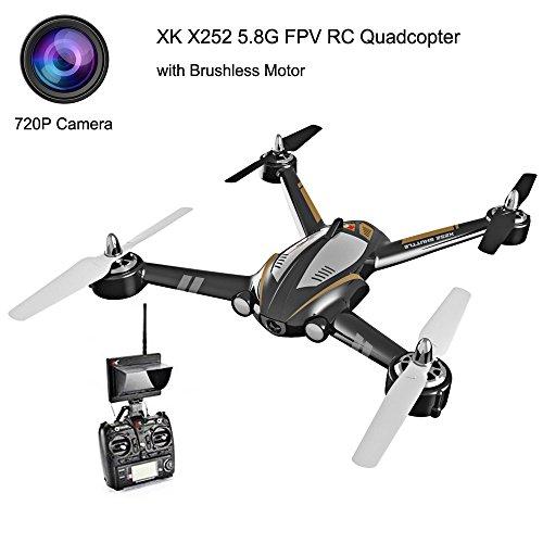 XK X252 5.8G FPV 7CH 6-Axis Gyro Drone RC Quadcopter RTF 1804...