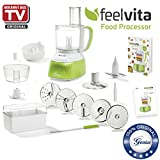 Genius Feelvita Food Processor | 20 Teile | Küchenmaschine | 14 Funktionen | Zerkleinerer | Bekannt aus TV | NEU